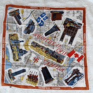 Awesome Vintage Montreal Canada Acetate Scarf